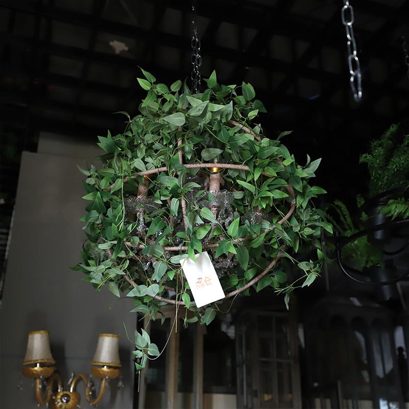 胡桃里球形绿植吊灯